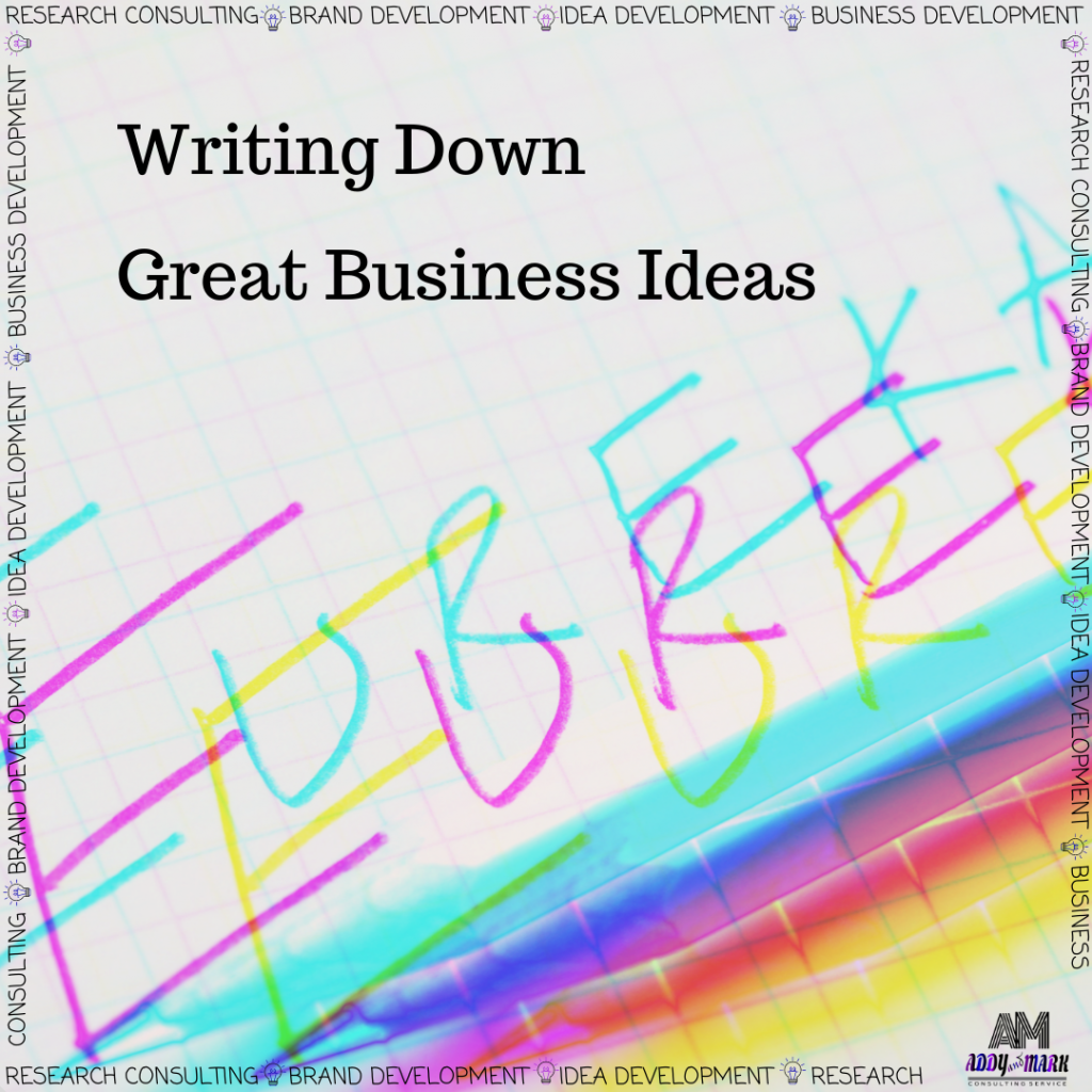 Writing Down Great Business Ideas